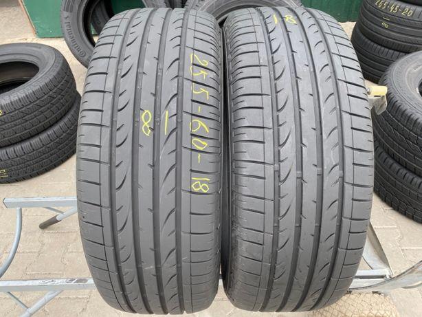 Шини літо 255/60R18 Bridgestone Dueler HP sport 2шт 7,2мм 18рік