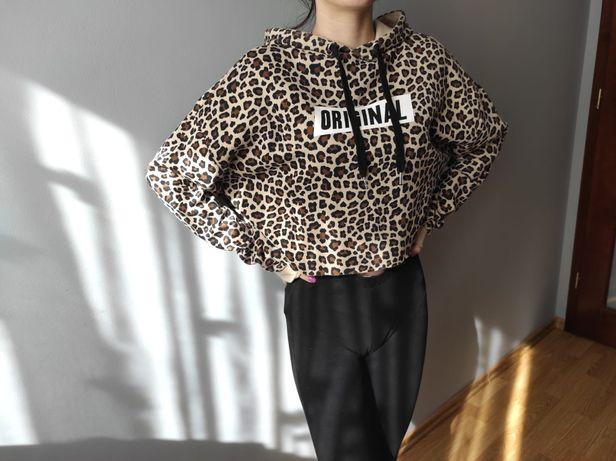 Bluza z kapturem panterka H&M rozmiar S