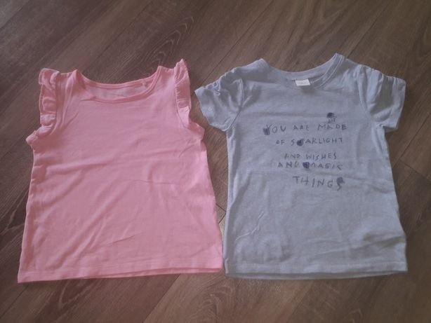 Dwie bluzeczki dla dziewczynki 110 4-5