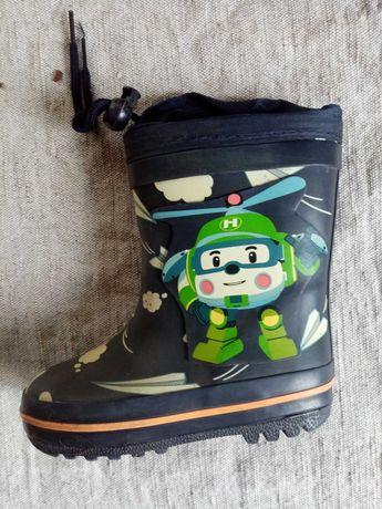 Резинові чобітки 15 см устілка для хлопчика