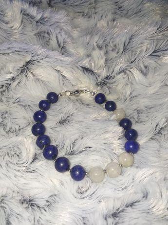 Bransoletka lapis lazuli/jadeit