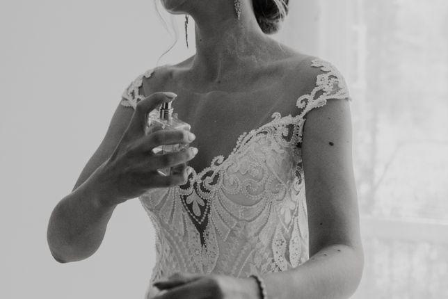 Suknia ślubna syrenka z pięknym trenem