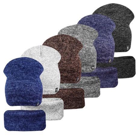 Комплект на флисе шапка с хомутом Кэжуал ог.54-56см