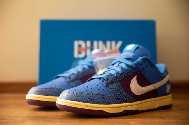 Nike Dunk Low Undefeated 5 On It Dunk vs. AF1 r. 44 / 10 US