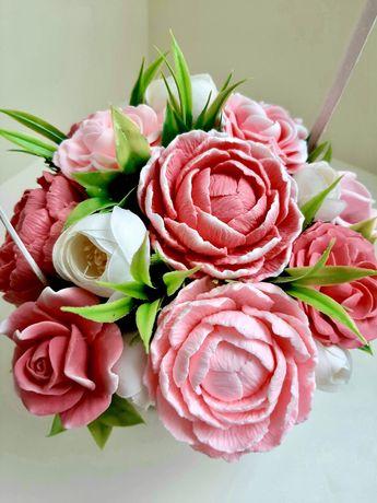 Подарок на день учителя, мыльные букеты, мыло, цветы из мыла