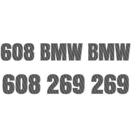 Złoty numer Dealer BMW - 608 BMW BMW reklama czesci infolinia sprzedaz