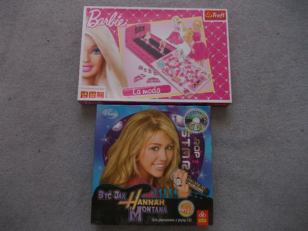 Gra planszowa - Trefl - Barbie i Hannah Montana +CD