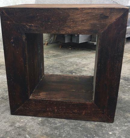 Móvel/Cubo madeira maciça envelhecida