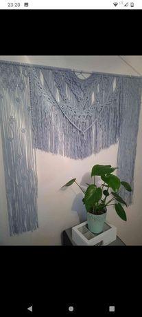 Makrama  firanka ścianka do zdjec95x100x55