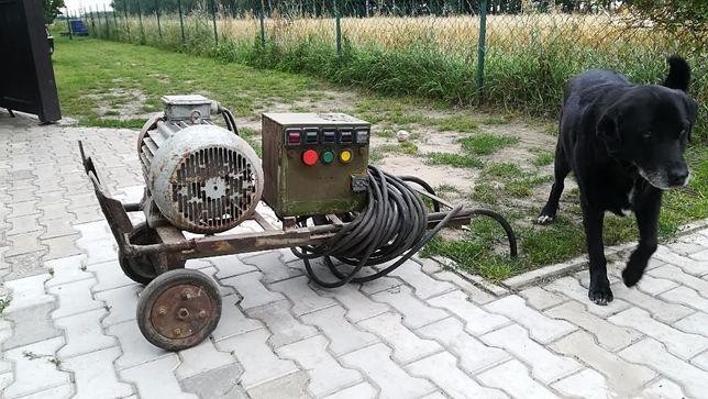 Silnik elektryczny 7,5kW na wózku, 3-fazowy, 1450obr/min