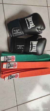 Luvas e cinto Kick boxing