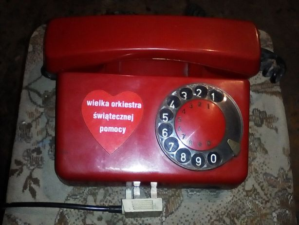 Stary telefon RWT Tulipan