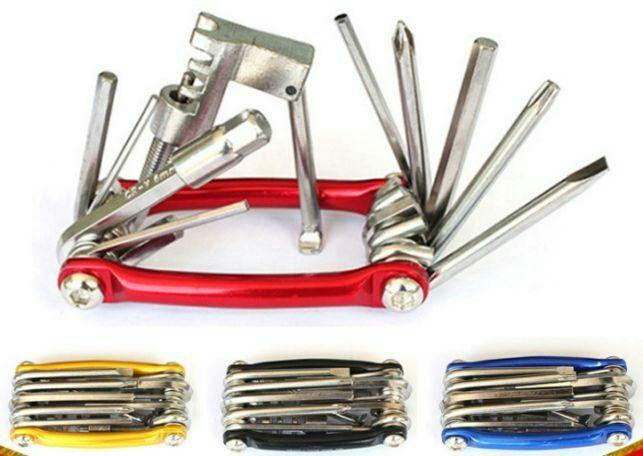 Вело мультитул 11 в 1 с выжимкой цепи инструмент ключи