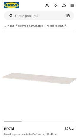 Como novo! Painel superior IKEA Besta  cinza betão 120x42