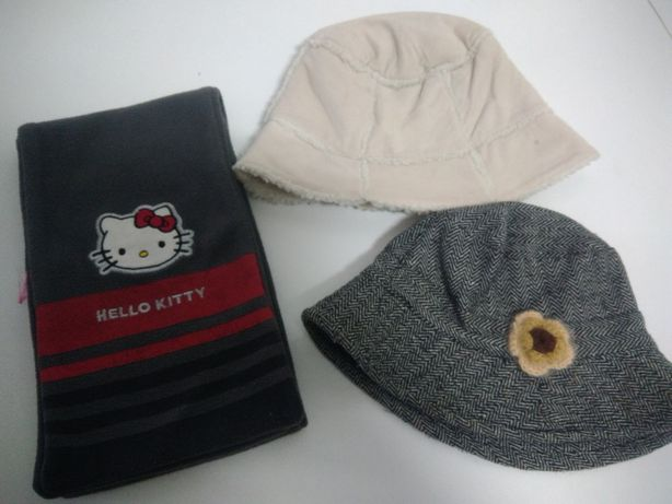 Gorro/chapéu 52 cm e cachecol/Gorros bebé 3 a 6 meses