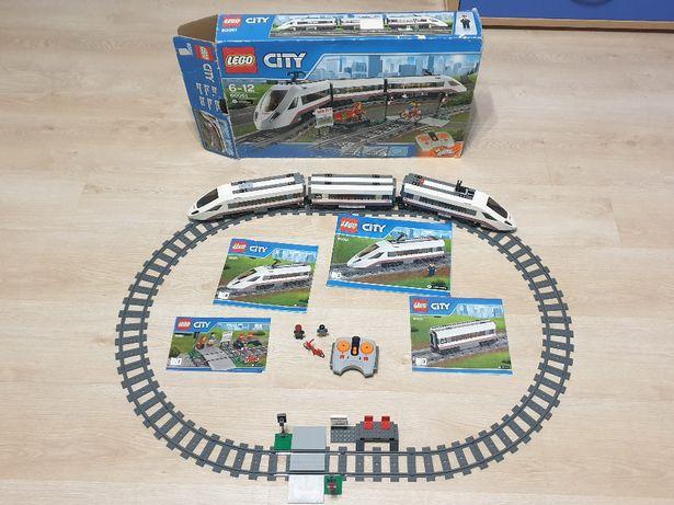 Конструктор LEGO City Скоростной поезд 60051 + 2 комплекта рельсов