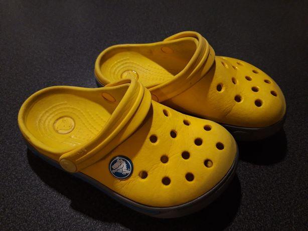 Crocs 24 klapki żółte