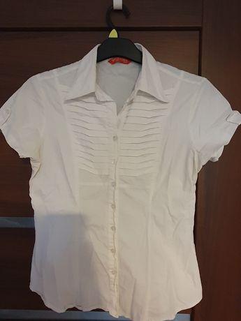 Bluzka koszulowa biała 44