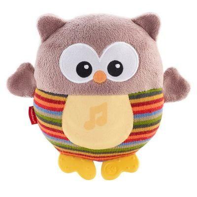 Мягкая игрушка-ночник Fisher-Price Веселая сова со звуковым эффектом