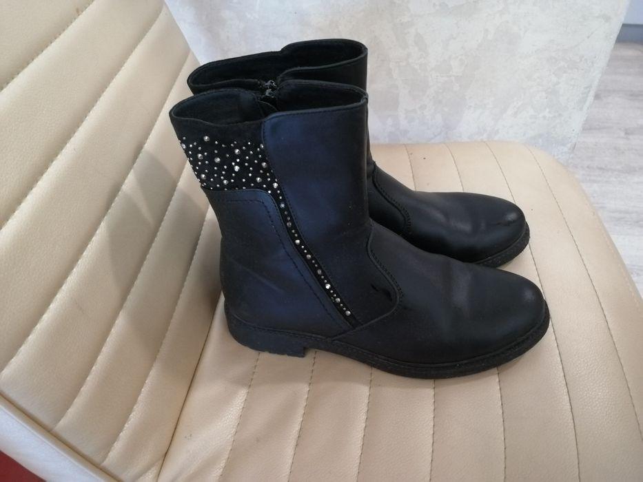 Ботинки демисезонные чёрные 36 Херсон - изображение 1