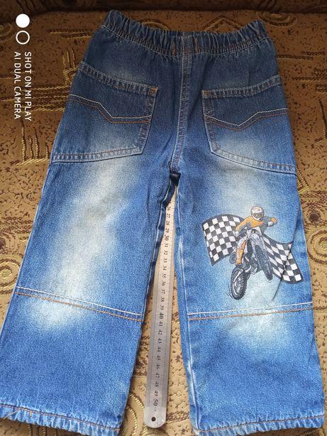 Джинсы на флисе штаны джинсовые