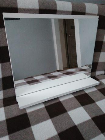 Lustro 60x50 z półką półka łazienka łazienkowe białe