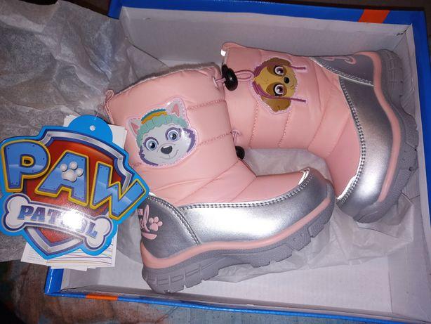 NOWE buty zimowe Psi Patrol śniegowce rozmiar 22 dla dziewczynki Smyk