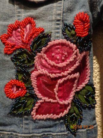 kurtka jeansowa z haftem - rozm.110
