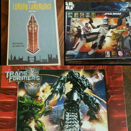 Puzzle Star Wars, Transformers, Londyn 3D - za całość