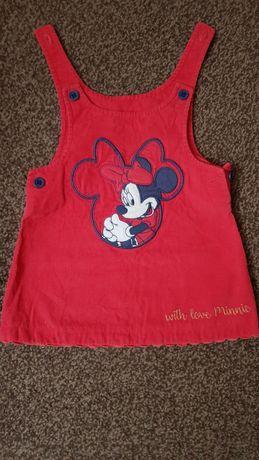 Sukienka czerwona Myszka Minnie. Rozmiar 62