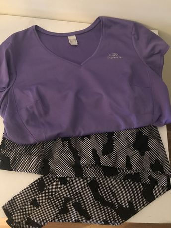 Conjunto desportivo t-shirt e leggins