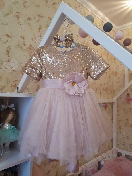 Святкова сукня,красивое платье плаття пайетки фатин