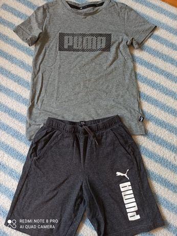 Strój sportowy koszulka spodenki Puma rozmiar 128-134