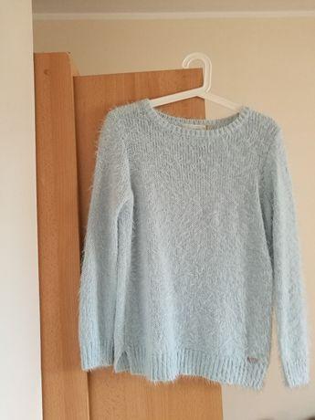 Ciepły, włochaty błękitny sweter House, rozmiar XS