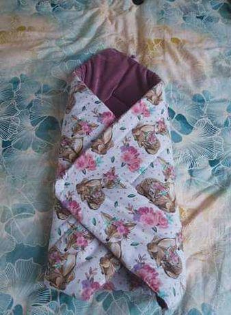 Rożek dla niemowlaka z velvetem - 80x80cm
