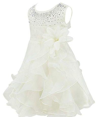 Sukienka elegancka, księżniczka, święta, chrzest 9-12 miesięcy