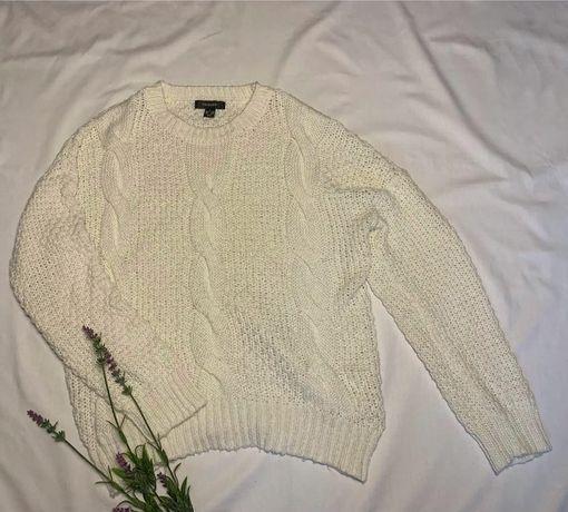 Свитер, свитерок, белый, вязаный