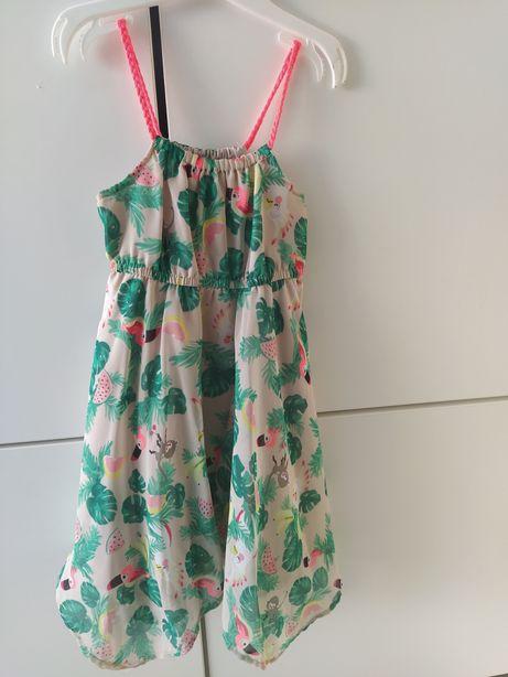 H&M długa sukienka tiul 92/98