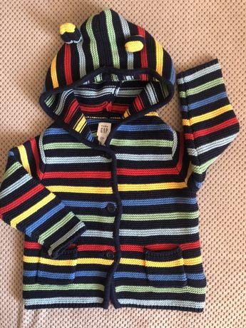 Кофта толстовка свитер кардиган gap 6-12 месяцев