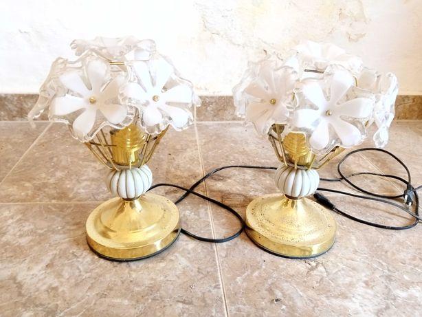 Conjunto de 2 candeeiros antigos de mesa de cabeceira