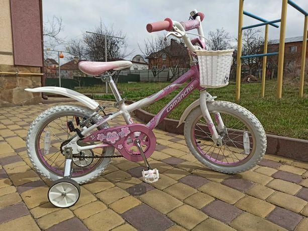 Дитячий велосипед Comanche Butterfly w16 для дівчинки