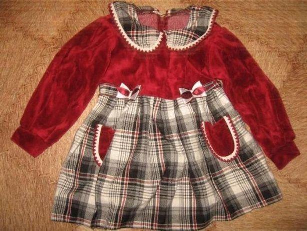 Тёплое платье платьице с длинным рукавом бархат