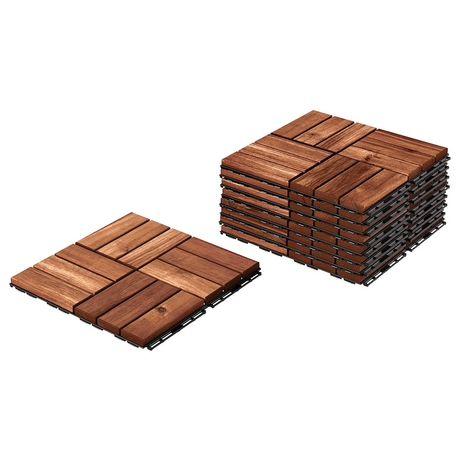 Ikea Runnen, płyta podłogowa, ogrodowa brązowa bejca - 14,58m2