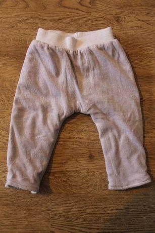 ciepłe spodnie r. 74