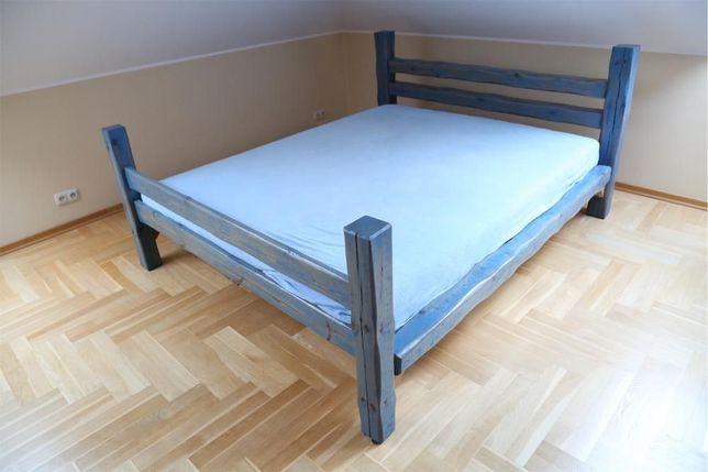 DREWNIANE łóżko masywne z grubych belek NA ZAMÓWIENIE jedyne takie