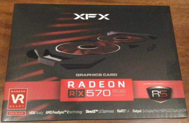 Відеокарта XFX Radeon RX 570 8GB (RX-570P8DFD6) НОВА