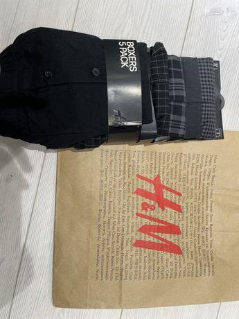 Трусы H&M мужские 5 пар (идут шортами, не боксёрки) размер L