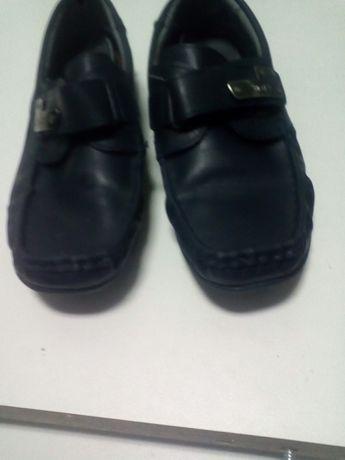 Туфли кожаные, мокасины, 33-35 р. Для мальчика. Калори.