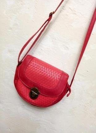 Симпатичная мини сумка сумочка mini red red через плечо кросс-боди.