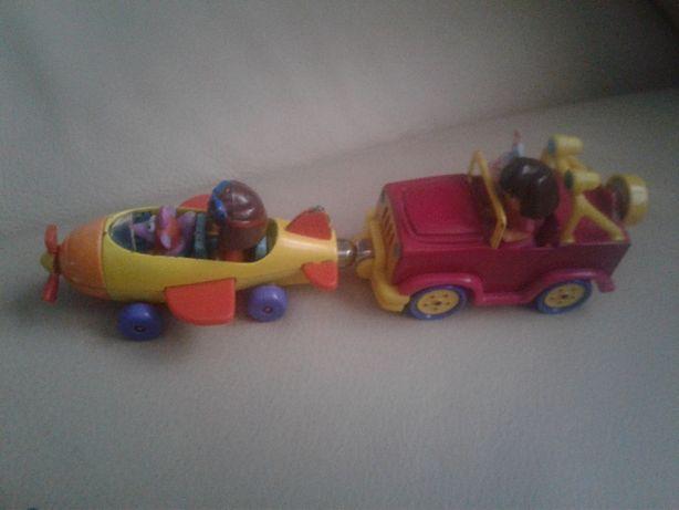 zabawki, klocki dzwig tonka dora stacyjkowo hugo tomek i przyjaciele
